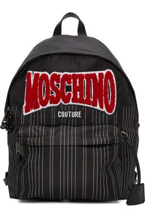 Moschino Nylon Pinstripe Backpack
