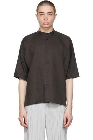 HOMME PLISSÉ ISSEY MIYAKE Cotton Linen Short Sleeve Shirt