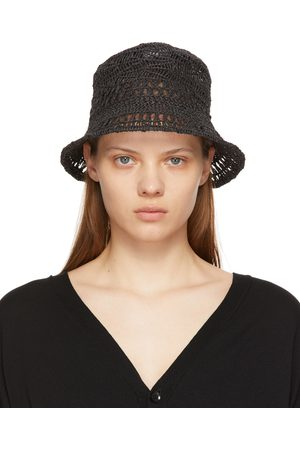Y'S Women Hats - Grey Paper Woven Bucket Hat