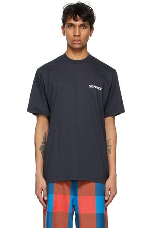 SUNNEI Navy Mini Logo T-Shirt