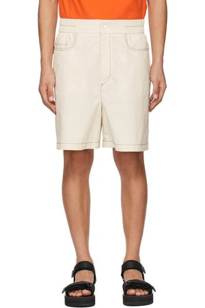 SUNNEI Men Shorts - Off- Taffeta Elastic Shorts