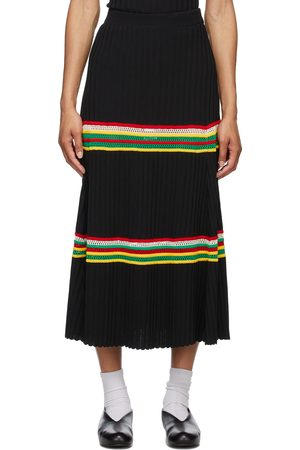 WALES BONNER Women Midi Skirts - Saint Ann Ribbed Skirt
