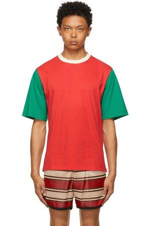 WALES BONNER Men T-shirts - Multicolor Colorblock Johnson T-Shirt