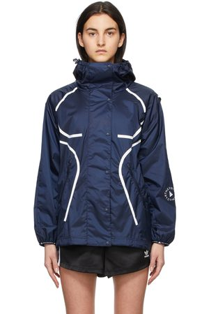 adidas Women Outdoor Jackets - Navy Wind Ready TruePace Jacket