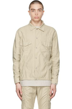 JOHN ELLIOTT Tan Frame Overshirt Jacket