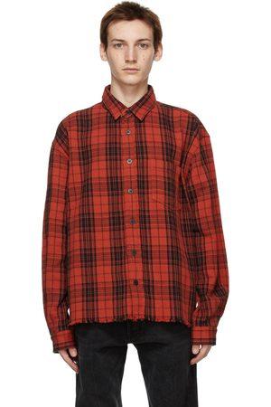 JOHN ELLIOTT Men Casual - Check Hemi Oversized Shirt