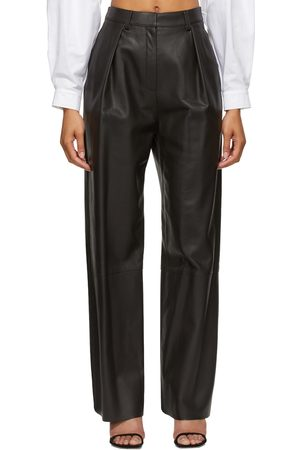 Michael Lo Sordo Wide Leather Boy Pants