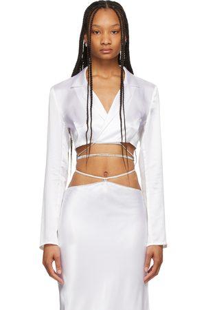 Michael Lo Sordo Women Blazers - Silk Wrap Cropped Blazer