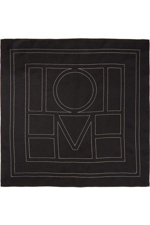 Totême Women Scarves - Black Silk Pantelleria Scarf