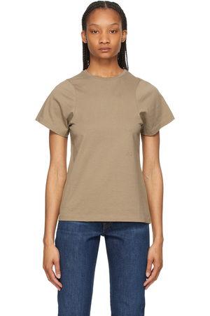 Totême Khaki Curved Seam T-Shirt