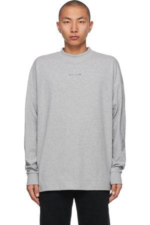 1017 ALYX 9SM Grey Visual Logo Long Sleeve T-Shirt