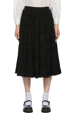 Comme des Garçons Twill and Dobby Jersey Skirt