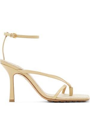 Bottega Veneta Raffia Stretch Heeled Sandals