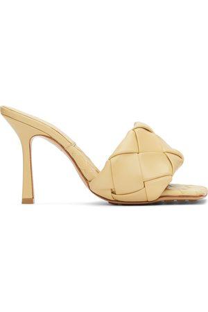 Bottega Veneta Beige Intrecciato 'The Lido' Heeled Sandals