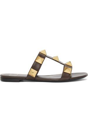 VALENTINO GARAVANI Leather Roman Stud Sandals