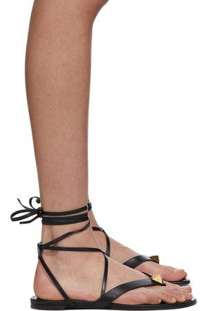 VALENTINO GARAVANI Roman Stud Flip Flop Flat Sandals