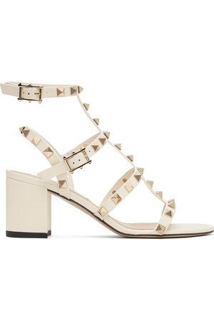 VALENTINO GARAVANI Women Sandals - Off- Rockstud Block Heeled Sandals