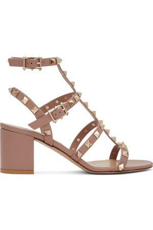 VALENTINO GARAVANI Caged Rockstud Heeled Sandals