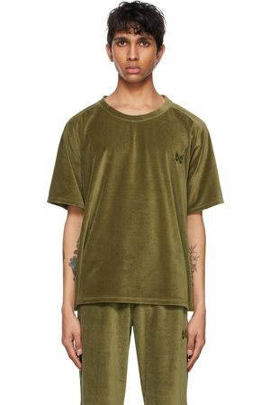 Pins & Needles Khaki Velour Neck T-Shirt