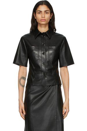 Nanushka Women Short sleeves - Vegan Leather Sabine Short Sleeve Shirt
