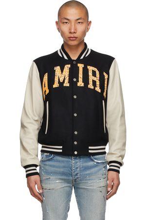 AMIRI Men Bomber Jackets - Vintage Appliqué Logo Varsity Bomber