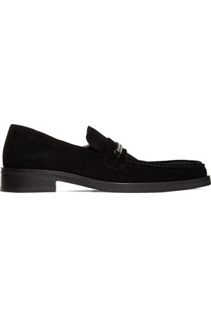 MARTINE ROSE Suede Square Toe Loafers