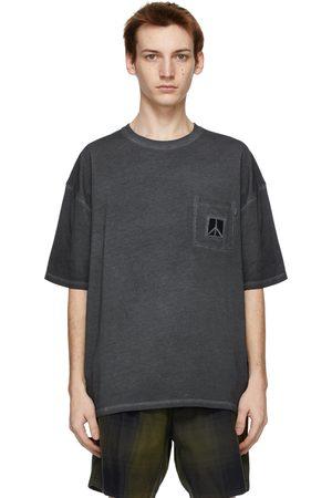 Saturdays NYC Grey Washed Peace T-Shirt