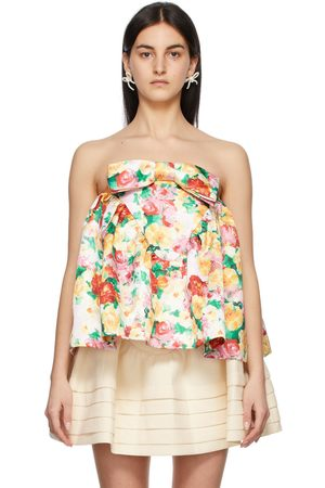 Shushu/Tong Women Strapless Tops - Floral Strapless Top