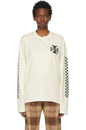 Rhude Women Long Sleeve - Off- Classic Checkers Long Sleeve T-Shirt