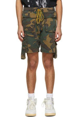 Rhude SSENSE Exclusive Camo Cargo Shorts