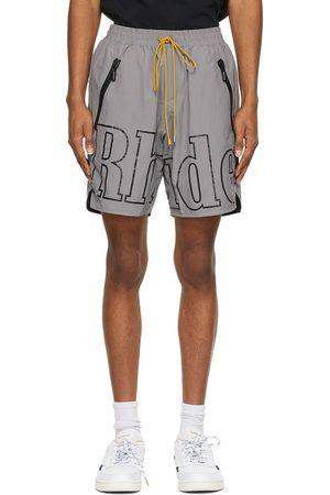 Rhude SSENSE Exclusive Grey and RH Logo Shorts
