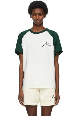 Rhude Women T-shirts - And Raglan Logo T-Shirt
