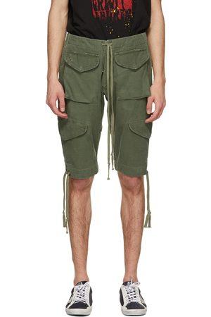 GREG LAUREN Khaki Baker Cargo Shorts