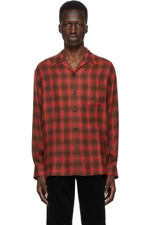 Wacko Maria Check Open Collar Shirt