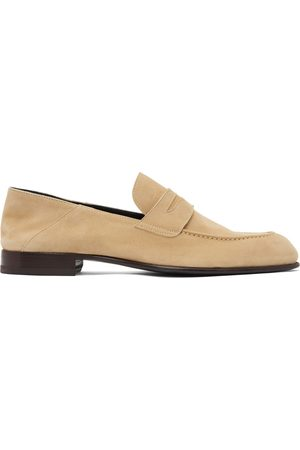 BRIONI Suede Penny Loafers