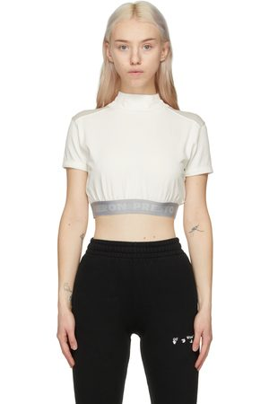Heron Preston And Grey Style Crop T-Shirt