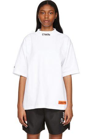 Heron Preston Style Mock Neck T-Shirt