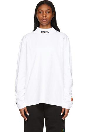 Heron Preston Style Mock Neck Long Sleeve T-Shirt