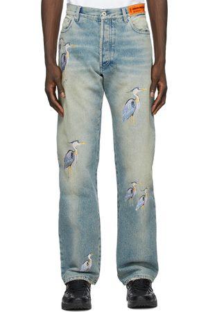 Heron Preston Regular Embroidered Jeans