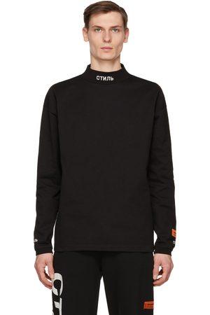 Heron Preston Men Long Sleeve - Style Mock Neck Long Sleeve T-Shirt