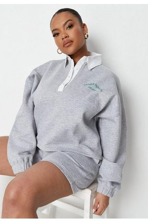 Missguided Plus Size Sports Cricket Sweatshirt