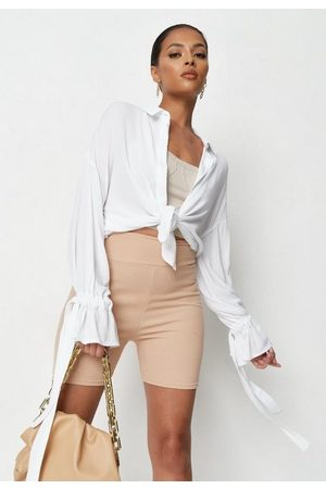 Missguided Cheesecloth Tie Sleeve Extreme Oversized Shirt