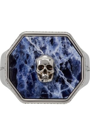 Alexander McQueen And Sodalite Skull Signet Ring