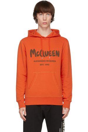 Alexander McQueen Men Hoodies - Graffiti Hoodie