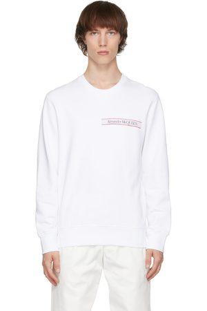 Alexander McQueen Men Sweatshirts - Selvedge Logo Tape Sweatshirt