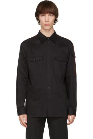 Alexander McQueen Men Shirts - Gabardine Logo Shirt