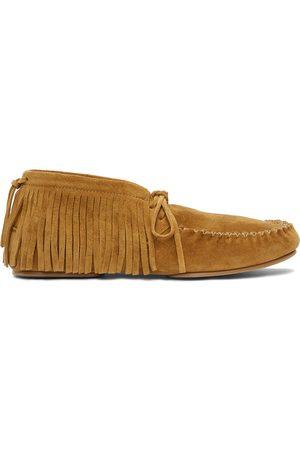 Loewe Tan Suede Casual Loafers