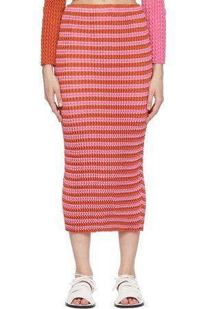 Issey Miyake Striped Spongy Skirt