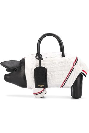 Thom Browne Pig knitted-jumper tote bag