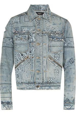 AMIRI Bandana-print denim jacket